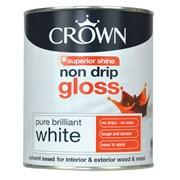 Crown Non Drip Gloss Brilliant White 750ml (5026784)