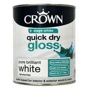 Crown Quick Dry Gloss Brilliant White 750ml (5022131)