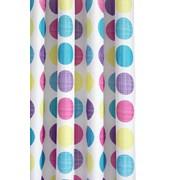Croydex Textured Dots Textile Shower Curtain (AF288115)