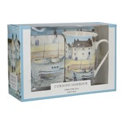 Ct.mug/coaster/tray Cornish Harbour (GS7/3635)