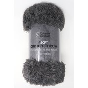 Catherine Lansfield Cuddly Throw Charcoal 200cm