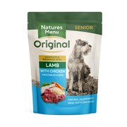 Natures Menu Senior Cooked Food Pouches For Dogs Lamb 300g (NMPSE)