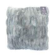 Luxury Faux Fur Tie Dye Filled Cushion Grey (CUF192845)