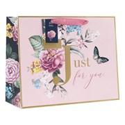 Design By Violet English Rose Shopper Gift Bag Large (DBV-54-LS)