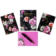 Design By Violet Beautiful Blooms Note Cards 8s (DBVED-25-8NC)