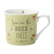 David Mason Design Bee Happy You Are The Bees Knees Mug Green (DD0909A08)