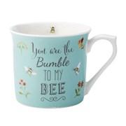 David Mason Design Bee Happy You Are The Bumble To My Bee Mug Blue (DD0909C12)