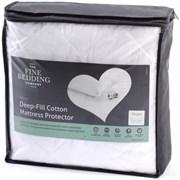 Fine Bedding Deep Filled Cotton Mattress Protector Double (P1PFNQCD)