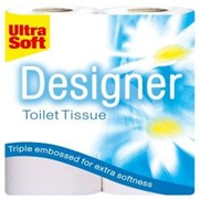 Designer Ultra Soft Toilet Roll - White 4pk (6499)