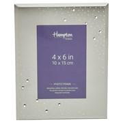 Diamante Smoke Glass Frame With Crystals 4x6 (DIA46SMK)