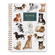Dogs Wiro Notebook With Dividers A5 (RFS13317)