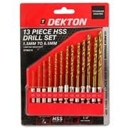 "Dekton 13 Piece 1/4"" Shank Hss Drill Set 1.5mm-6 (DT80216)"