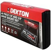 """Dekton 40pc 1/4"""" & 3/8"""" Drive Socket Set (DT85110)"""
