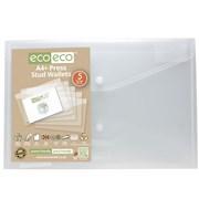 Ecoeco A4 95% Recycled Press Stud Wallets 5 Pk (eco033)