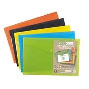 Ecoeco A4 50% Recycled Press Stud Wallets 5 Pk (eco035)
