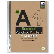 Eco Essentials A4 Punch Pockets 10s (ECPP)