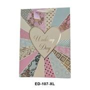 Wedding Text Gift Bag X/lge (ED107XL)