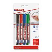 Edding 360 4 Pack Whiteboard Markers (436041999)