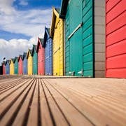 Blank Card Beach Huts (EF12051)