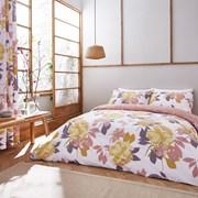 Catherine Lansfield Elina Floral Duvet Set Blush Double