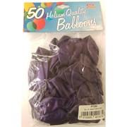 "Fantasia Shiny Purple Balloons 50s 12"" (PT285)"