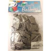 "Fantasia Shiny Silver Balloons 50s 12"" (PT270)"