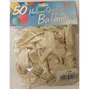 """Fantasia Shiny White Balloons 50s 12"""" (PT269)"""