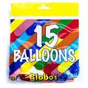 Fantasia Balloons Asst Colours 15s (GLO15)