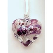 Birthstone Heart February 7cm (BH02F)