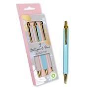 3 Retractable Pens Elegant Spring (FLPI)