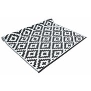 Black And White Rug Plastic 90x150c (FN197760BK)