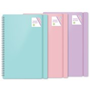 Pastel Twin Wire Notebook Asstd Colours A4 (FSC3-PTOS/1)
