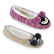 Ladies Knitted Raccoon & Owl Ballet (FT1299)