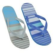 Mens Stripe Print Flip Flop (FT1508)