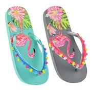 Ks Girls Flamingo Flip Flop With Pom Pom (FT1711)