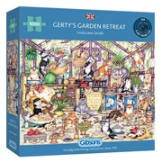 Gibsons Gertys Garden Retreat Puzzle 1000pc (G6324)
