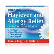 Galpharm Hayfever & Allergy Cetirizine (blue) 7s (GHT)