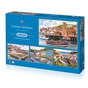 Gibsons Harbour Holidays Puzzles 4x 500pc (G5052)