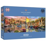 Gibsons Sails At Sunset Puzzles 2x 500pc (G5054)