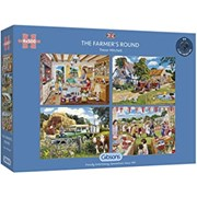 Gibsons The Farmers Round Puzzles 4x 500pc (G5055)