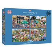 Gibsons The Florists Round Puzzles 4x 500pc (G5058)