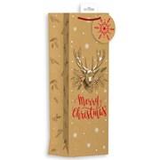 Giftmaker Kraft Christmas Gift Bag Bottle (XALGB12B)