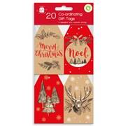 Giftmaker Kraft Christmas Gift Tags 20s (XALGT1038)