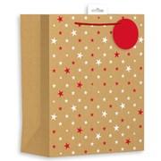 Giftmaker Kraft Stars Gift Bag Large (XALGB65L)