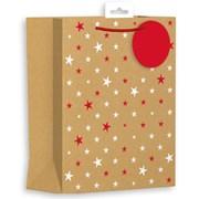 Giftmaker Kraft Stars Gift Bag Medium (XALGB65M)