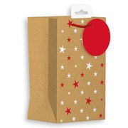 Giftmaker Kraft Stars Gift Bag P/fume (XALGB65P)