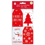 Giftmaker Red & White Gift Tags 20s (XALGT1033)