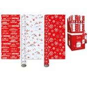Giftmaker Red & White Roll Wrap 5mt (XALGW102)