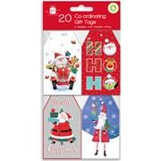 Giftmaker Santa & Friends Gift Tags 20s (XALGT1035)