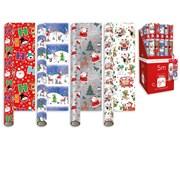 Giftmaker Santa & Friends Roll Wrap 5mt (XALGW106)